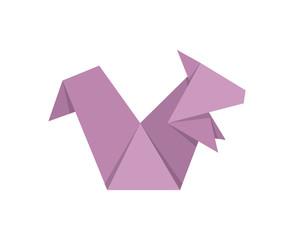 Cute Japanese Origami Paper Art Squirrel Illustration