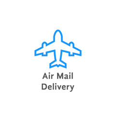 simple air mail delivery logo on white