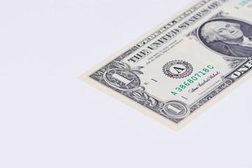 Ein Dollar Banknote Ausschnitt mit Textfreiraum