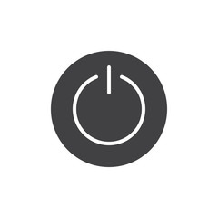 Power switch icon vector, filled flat sign, solid pictogram isolated on white. On/Off button round symbol, logo illustration.