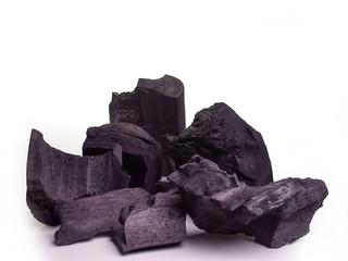 Black charcoal texture