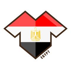 Vector illustration. Football tournament 2018. Flag of Egypt. logo for the summer soccer championship. Sports wear. T-shirt
