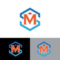 letter m,s business logo