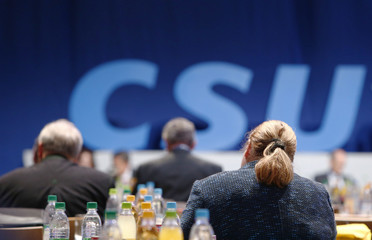 Christian Social Union (CSU) party congress in Nuremberg