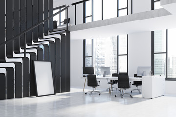 White and black two storey office