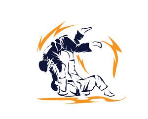 Passionate Judo Athlete In Action Logo