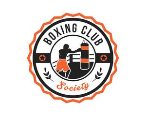 Modern Boxing Sports Club Badge Logo