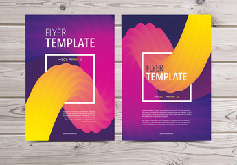 Colorful Flyer with Abstract Background