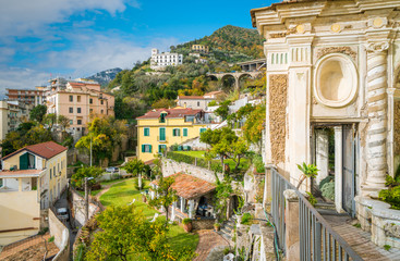 Panoramic view from the Minerva's Garden in Salerno, Campania, Italy.