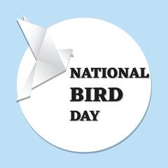 National bird day. Dove origami. Vector illustration