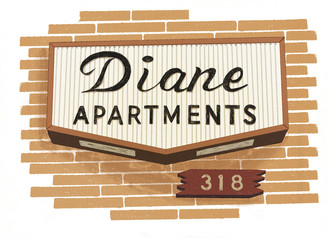 Apartment Sign Illustration