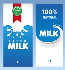 fresh milk design template package