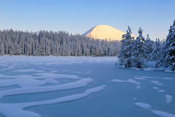 Winter scene in the Uinta Mountains, Utah, USA.