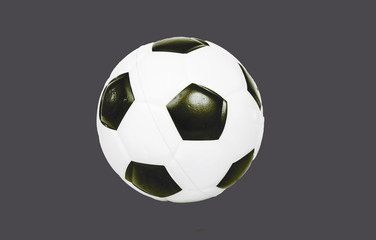 Soccer ball football on grey isolated cutout cut out background. Easy to use.. Football background.