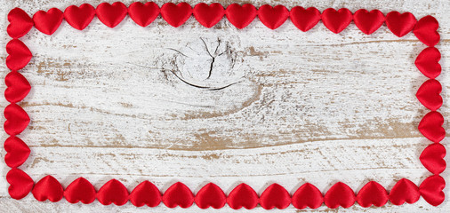 Red heart border for Valentines Day