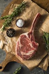 Wall Mural - Raw Red Grass Fed Tomahawk Steaks