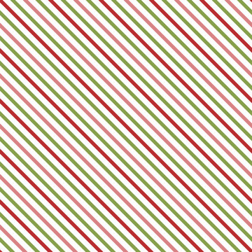 Holiday stripe seamless pattern. Christmas stripe repeating pattern for fabric, gift wrap, cards, backgrounds, borders, gift tags, gift bags, decorations and more. Red, green diagonal stripes.