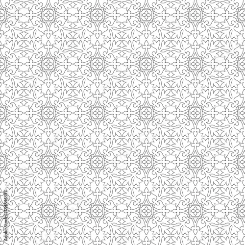 Seamless Classic Tiled Pattern Black Outlines Middle East Style Stunning Middle Eastern Patterns