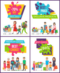 Exclusive Products Best Price Vector Illustration