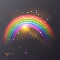Rainbow icon isolated on transparent background. colorful illustration. Vector eps 10