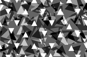 Triangle geometric abstract pattern - gray, Triangle background