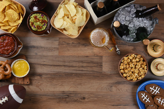 Football Watching Party Snacks and Drinks