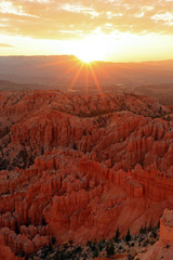 Deurstickers Rood paars Bryce Canyon Sunrise landscape, Utah, USA.