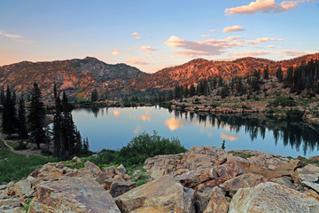 UInta Mountain reflection, Utah, USA.