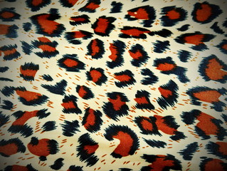 Leopard fabric as a background