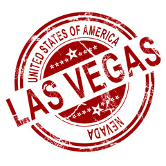 Las Vegas stamp with white background