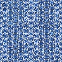 Native batik seamless watercolor artistic boho style colorful square pattern.