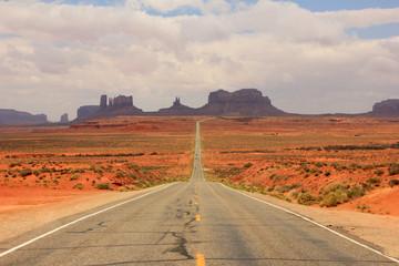 Desert road in Monument Valley, Utah, USA.