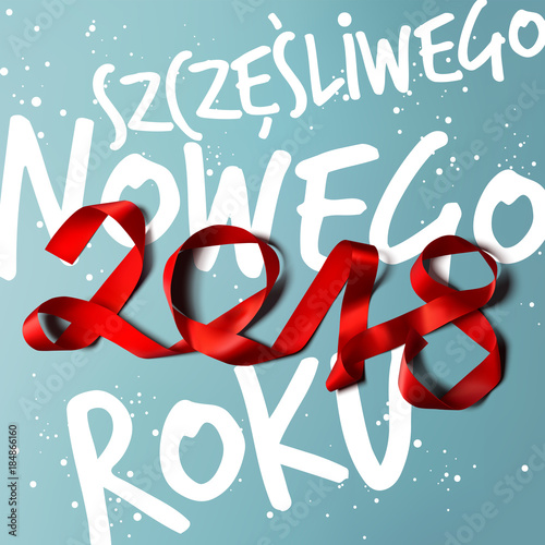 Happy new year 2018 polish greetings vector illustration stock happy new year 2018 polish greetings vector illustration m4hsunfo