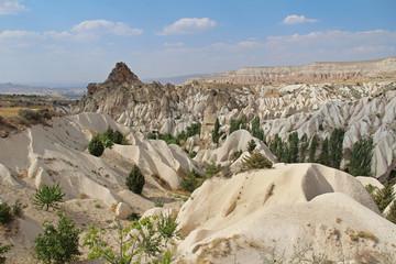 Panorama of Meskendir, Red and Rose valleys. Cappadocia. Turkey