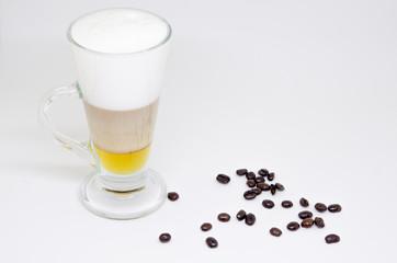 Hot honey coffee latte