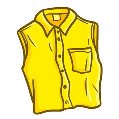 Cute and funny yellow sleeveless skirt - vector.