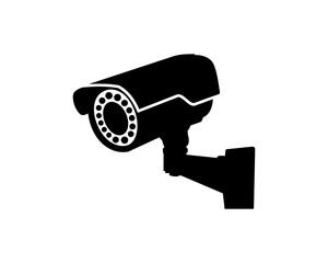Black Security Surveillance CCTV Camera Watch Illustration Logo Silhouette
