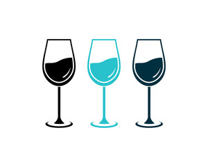 Simple Wine Glass Beer for Restaurant or Bar Logo Symbol