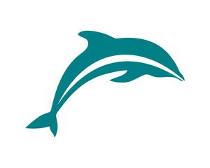 Cute Jumping Dolphins Symbol Logo Vector Animal