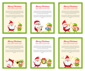 Set of Christmas Banners Vector Illustrations
