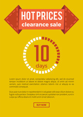 Hot Prices Clearance Sale on Vector Illustration