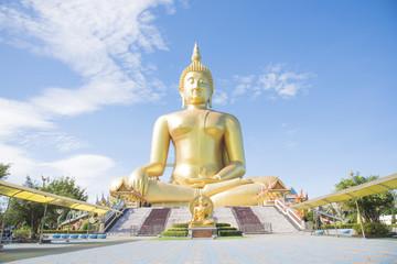 Golden Buddha statue at Wat Muang temple in Angthong, Thailand