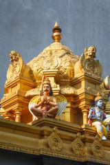 Interior details of a Hindu Temple Kovil in Colombo, Sri Lanka.