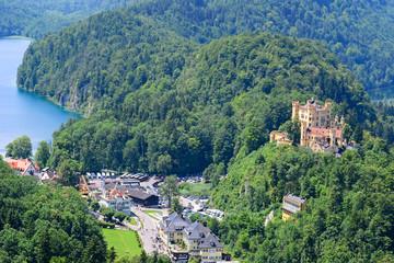 View of Hohenschwangau in Germany, Europe