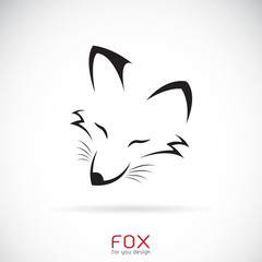 Vector of a fox face design on a white background, Wild Animals.