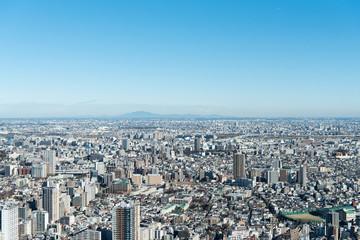 筑波山と関東平野