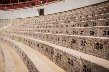 Plaza de Toros, Malaga, Spain, Corrida arena detail