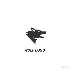 wolf logo, wolf head icon, silhouette of wolf.