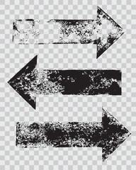 grunge arrow stamps set vector illustration