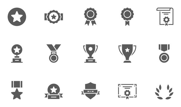 Set of Winning Vector Icons. 48x48 Pixel Perfect.